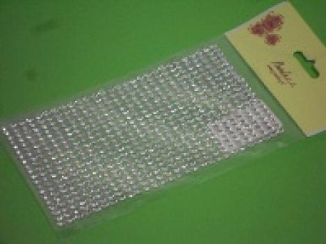 Комплект клеющихся стразиков 4мм, серебрянные(560шт)