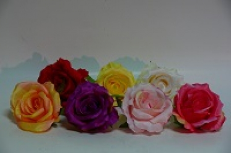 Artificial flower rose (head) 1pcs