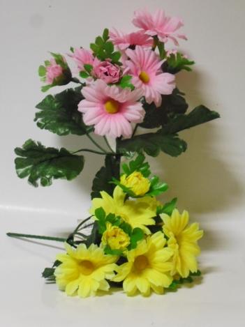 Mākslīgo vijolīšu ziedu pušķīs 19 cm