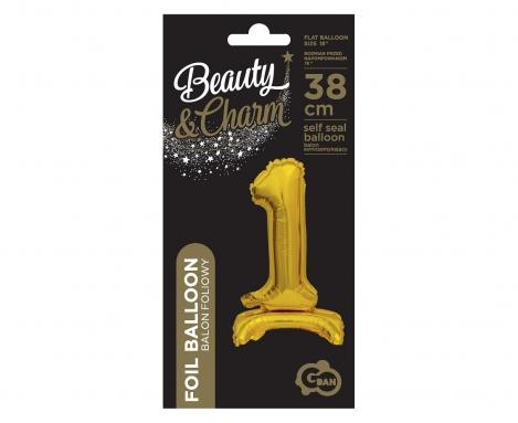 Balon folija 35 cm zelts