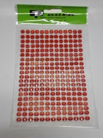 Комплект клеющихся стразиков 6мм, красного цвета(260шт)
