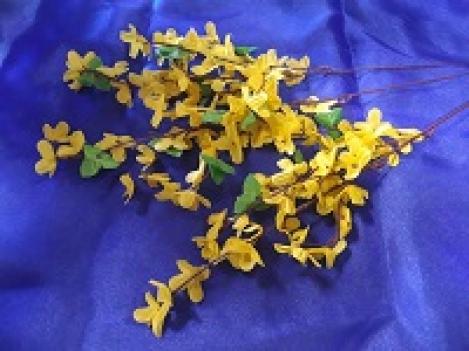 Artificial flowers  Forsythia