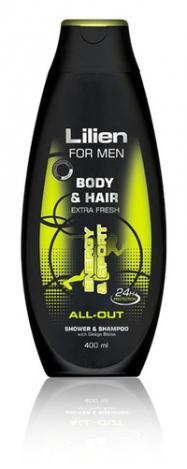 LILIEN Shower gel & shampoo for men All-Out 400ml