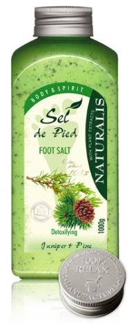 NATURALIS соль для ног 1000g Kadiķis&Priede