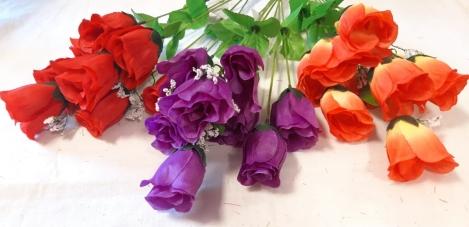 Mākslīgo rožu ziedu pušķis-9(42 cm) N66FWX1602