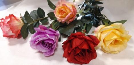 Искусственный цветок роза A65ART206  64 см