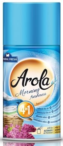 Rezerves pudele Arola automātiskajam gaisa atsvaidzinātājam Morning freshness 250ml