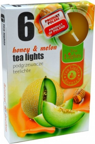 Smaržīgas tējas sveces (6 gab) - MEDUS, MELONE