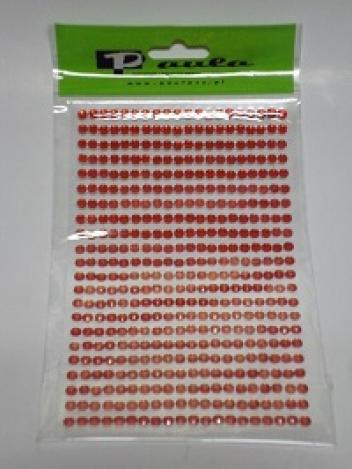 Комплект клеющихся стразиков 4мм, красного цвета(440шт)