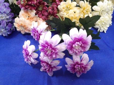 Artificial flowers of dalia
