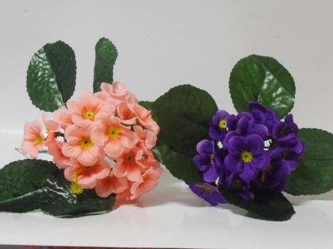 Mākslīgo vijolīšu ziedu  pušķis(19cm)