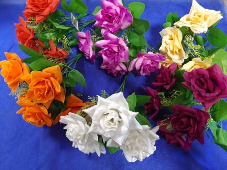 Artificial flower bouquet roses - 5