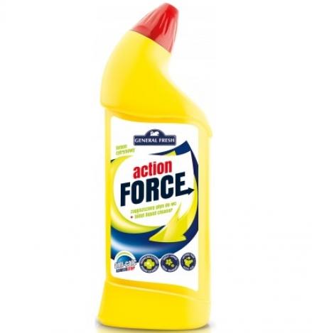 Action force чистящий концентрат для туалетов 1л Лимон