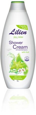 LILIEN Shower cream Aloe vera & Carambola 750ml