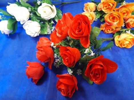 Rožu ziedu pušķis -9(42cm) O66A070