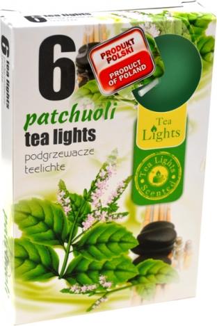 Smaržīgās tējas sveces (6gab.) – PAČŪLIJA