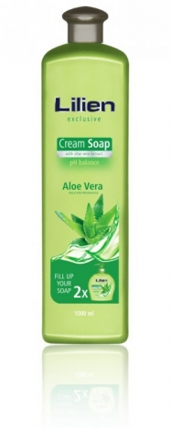 LILIEN  жидкое крем-мыло наполнитель для дозатора 1000ml Aloe vera