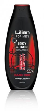 LILIEN Shower gel & shampoo for men Dark Red