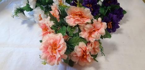 Mākslīgo ciniju ziedu pušķis - 10(40cm) N66LXF1610