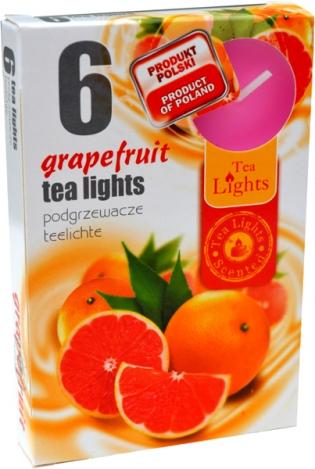 Smaržīgas tējas sveces (6 gab.) GREIPFRŪTS