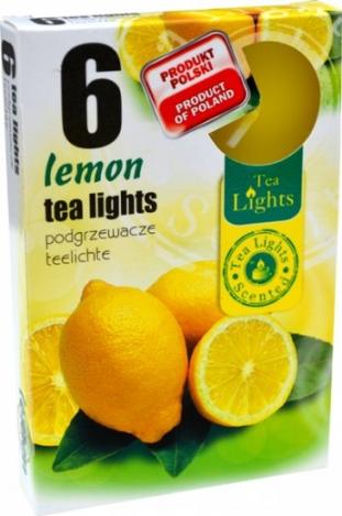 Smaržīgas tējas sveces (6 gab) - CITRON