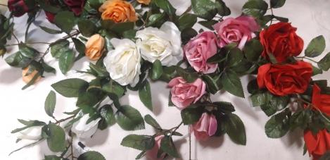 Искусственная веточка розы (90cm) O66j106C