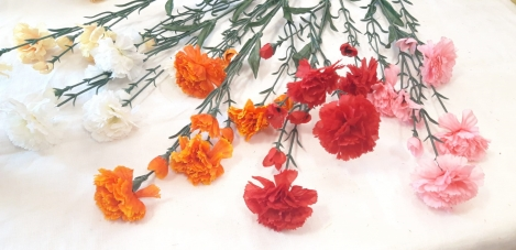 Artificial flower rose (head) 1pcs