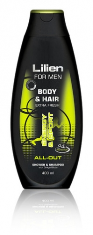 LILIEN Shower gel & shampoo for men All-Out 400ml