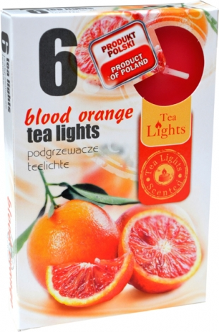 Tea lights (6psc.) - BLOOD ORANGE