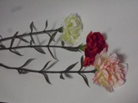 Искусственный цветок гвоздика 67 см