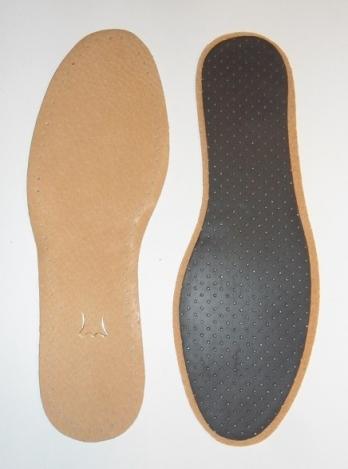 Стельки для обуви - кожаные с латексом (1пара)