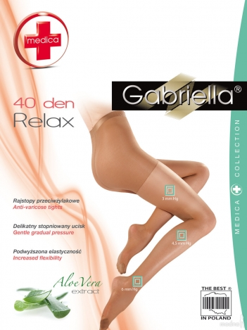 Gabriella колготки Relax 40den 5 размер 111