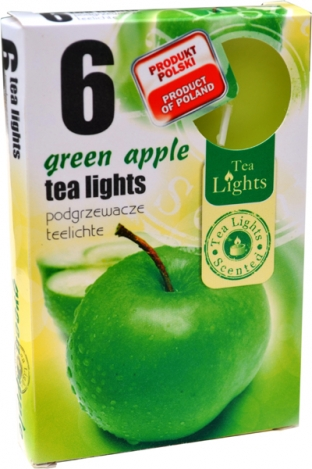 Tea lights (6psc.) - GREEN APPLE