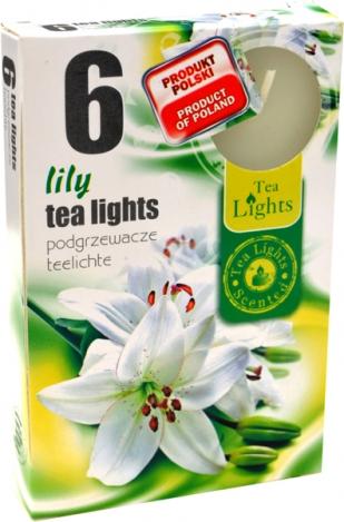 Ароматизированные чайные свечи (6шт.) - ЛИЛИЯ