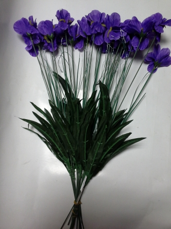 Artificial flower iris