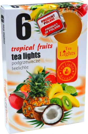 Tea lights (6psc.) - TROPICAL FRUIT