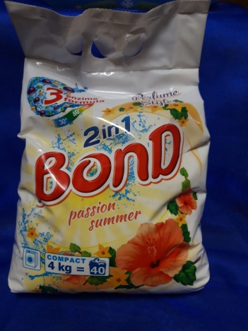 BOND DETERGENT POWDER 2 IN 1 , 4kg (Automat)