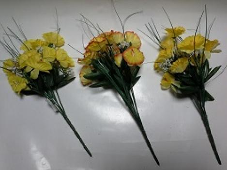 Mākslīgo narcišu ziedu pušķis - 7*2, 34cm